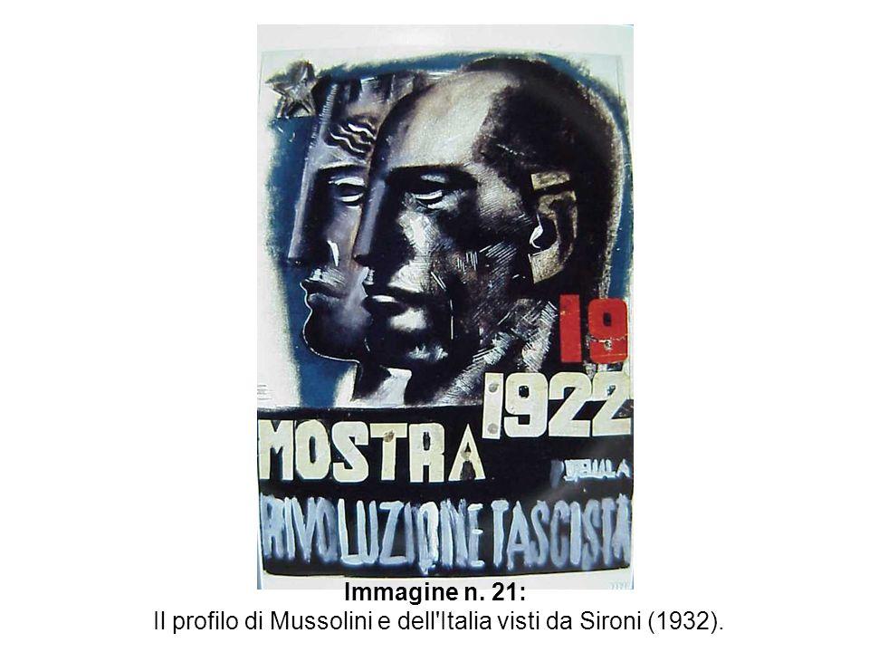Il profilo di Mussolini e dell Italia visti da Sironi (1932).