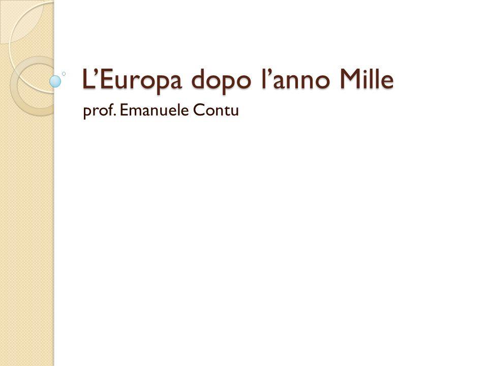 L'Europa dopo l'anno Mille