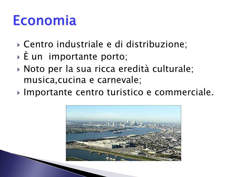 Economia Centro industriale e di distribuzione; È un importante porto;