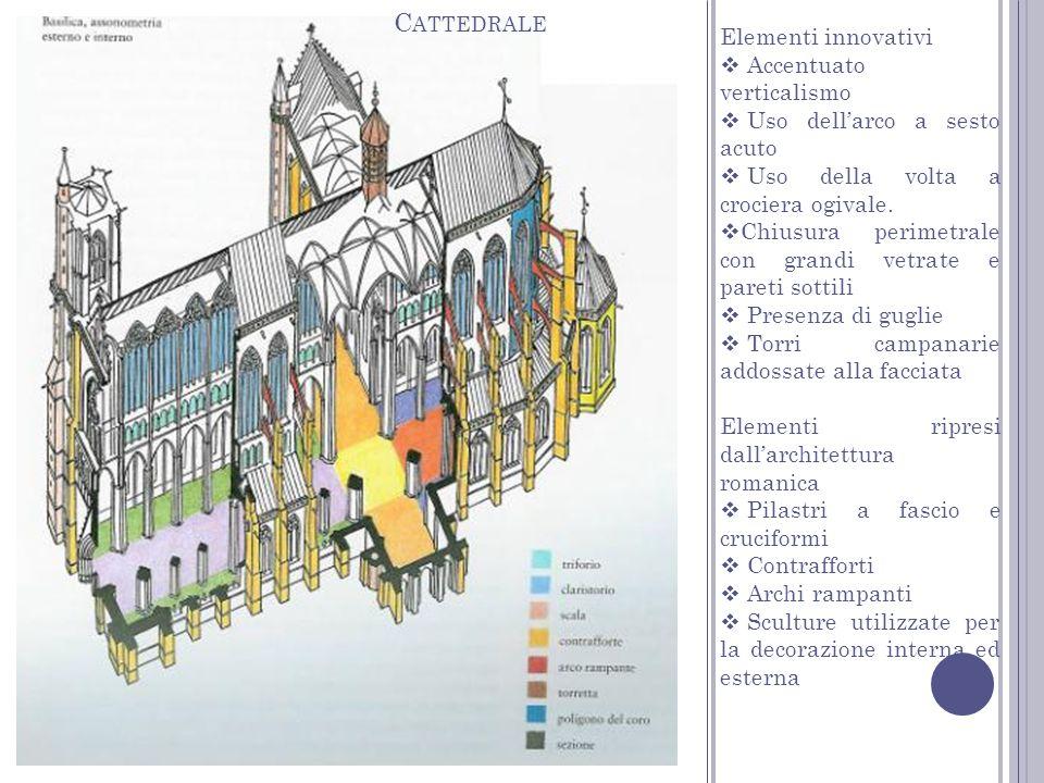 Cattedrale Elementi innovativi Accentuato verticalismo