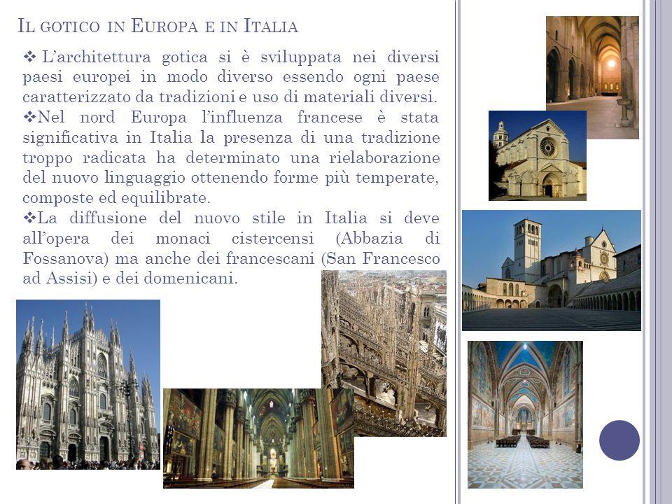 Il gotico in Europa e in Italia