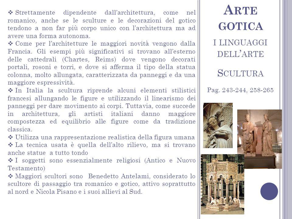 Arte gotica i linguaggi dell'arte Scultura