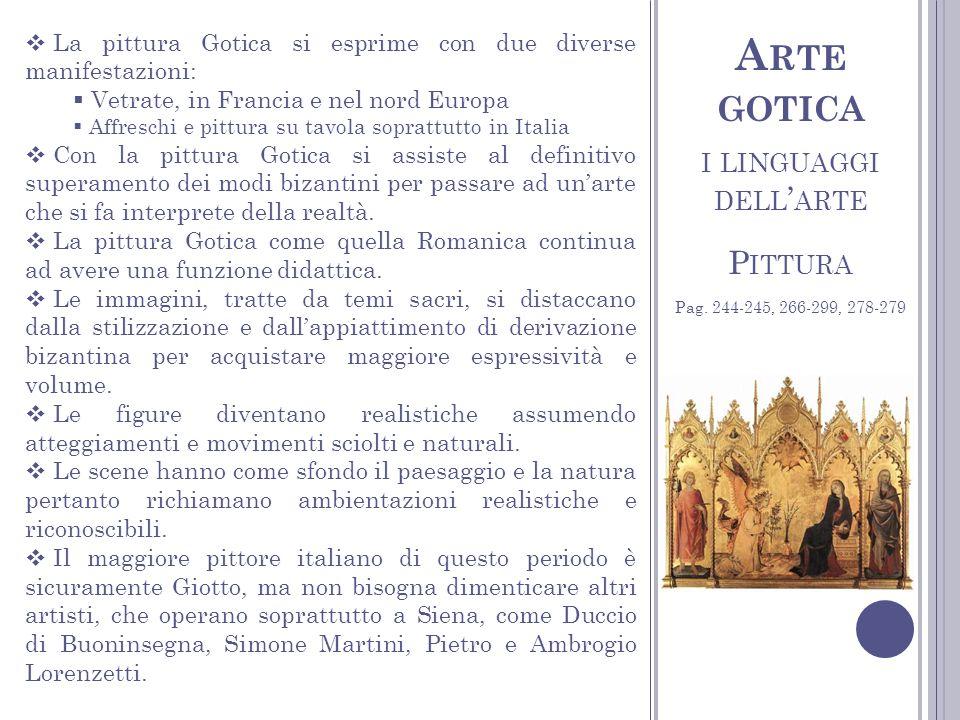 Arte gotica i linguaggi dell'arte Pittura
