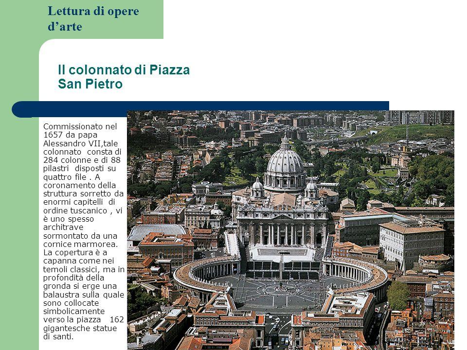 Il colonnato di Piazza San Pietro