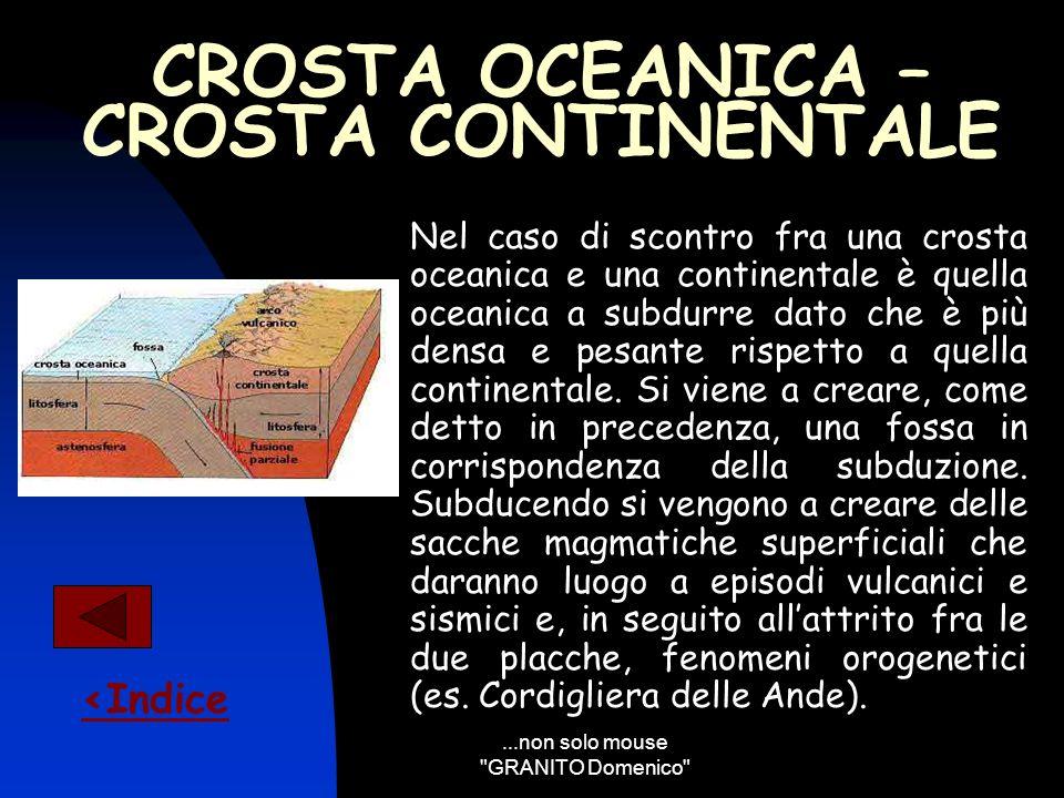 CROSTA OCEANICA – CROSTA CONTINENTALE