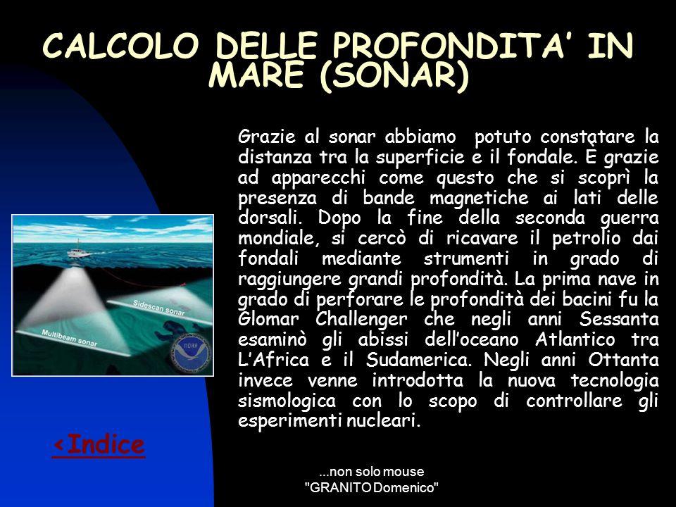 CALCOLO DELLE PROFONDITA' IN MARE (SONAR)