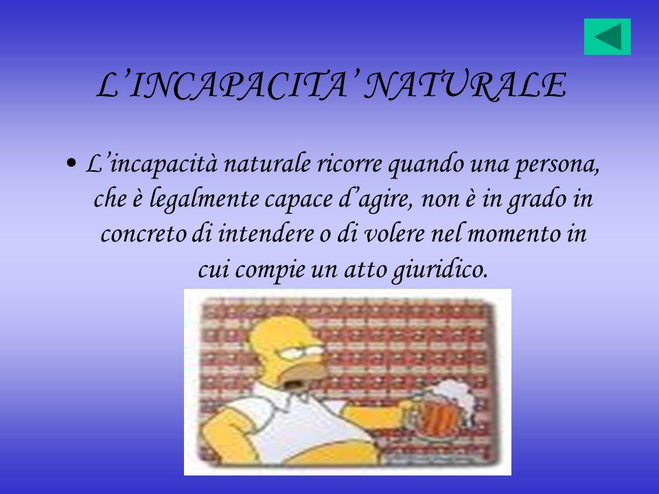 L'INCAPACITA' NATURALE