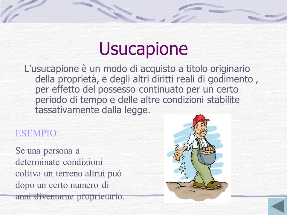 Usucapione