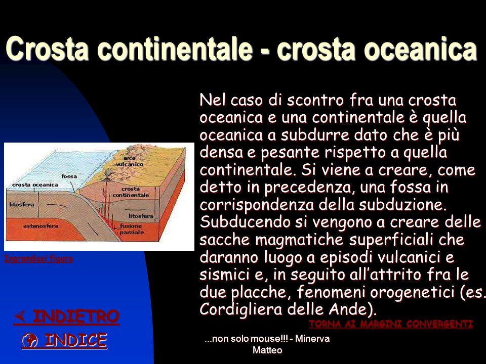 Crosta continentale - crosta oceanica
