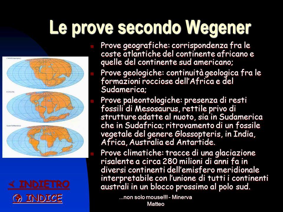 Le prove secondo Wegener