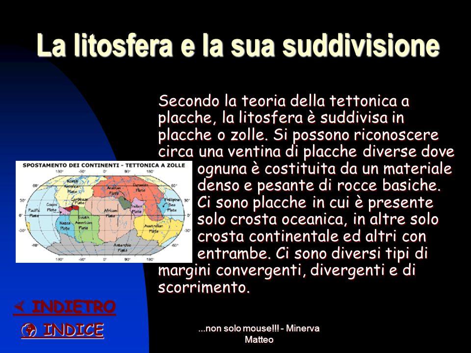 La litosfera e la sua suddivisione