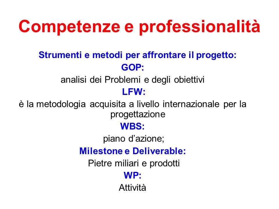 Competenze e professionalità