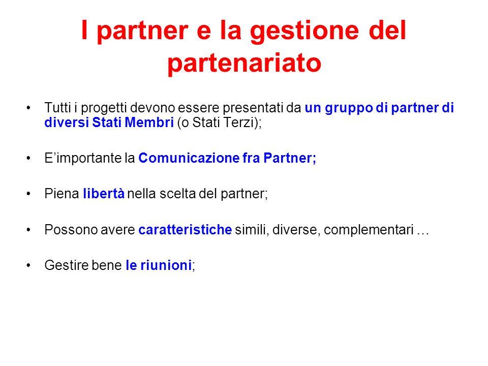 I partner e la gestione del partenariato