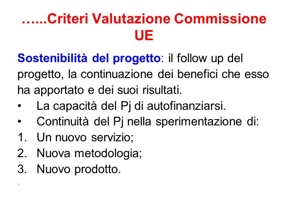 …...Criteri Valutazione Commissione UE