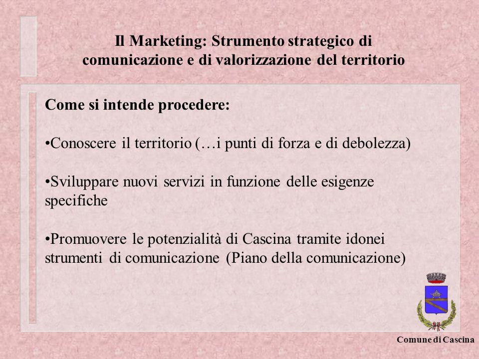 Il Marketing: Strumento strategico di comunicazione e di valorizzazione del territorio
