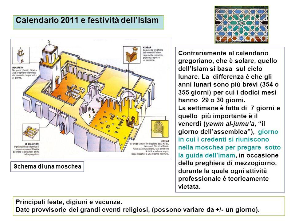 Calendario 2011 e festività dell'Islam