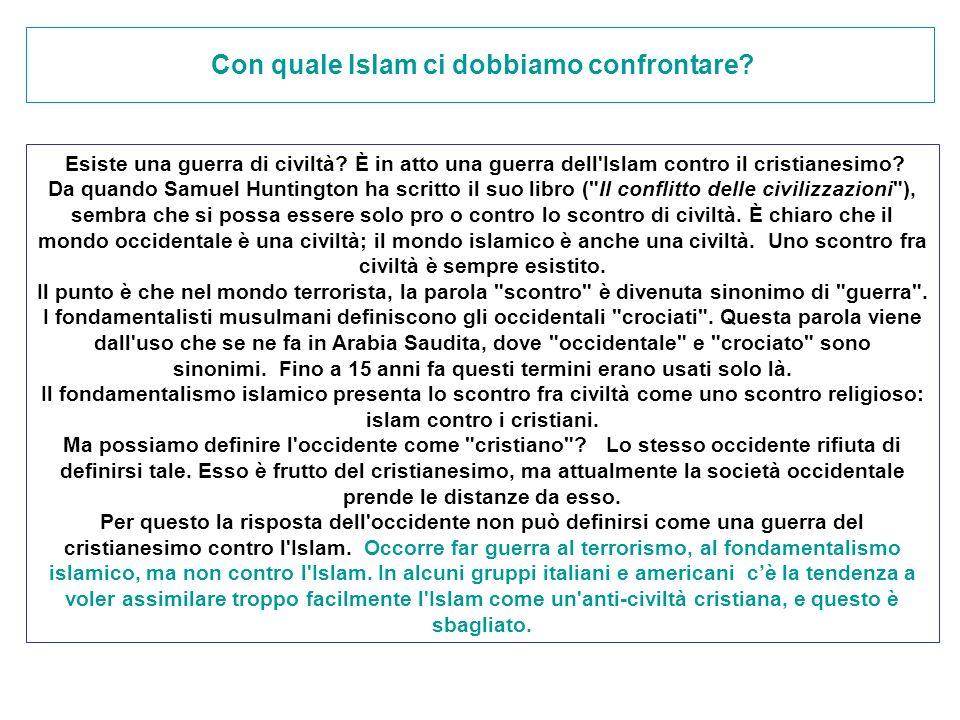 Con quale Islam ci dobbiamo confrontare