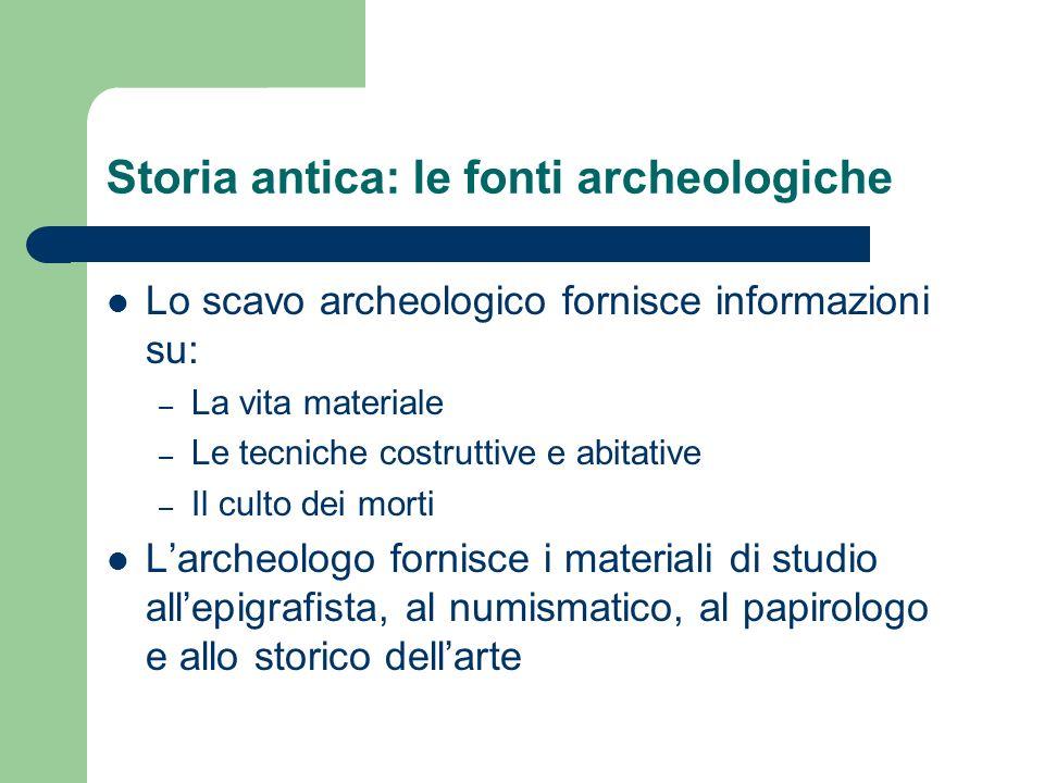Storia antica: le fonti archeologiche