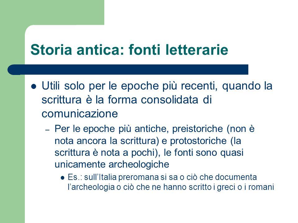 Storia antica: fonti letterarie