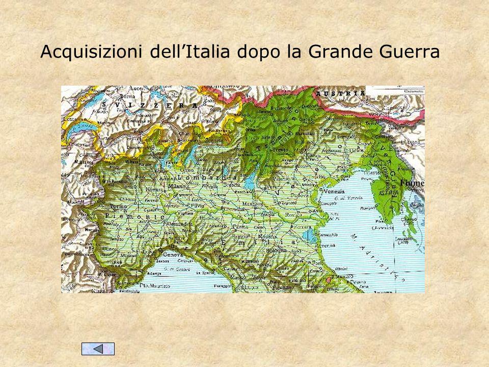 Acquisizioni dell'Italia dopo la Grande Guerra