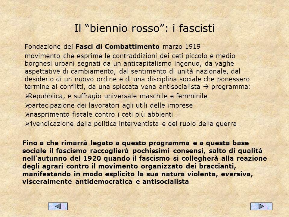 Il biennio rosso : i fascisti