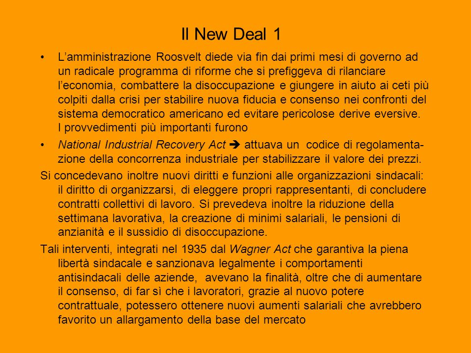 Il New Deal 1