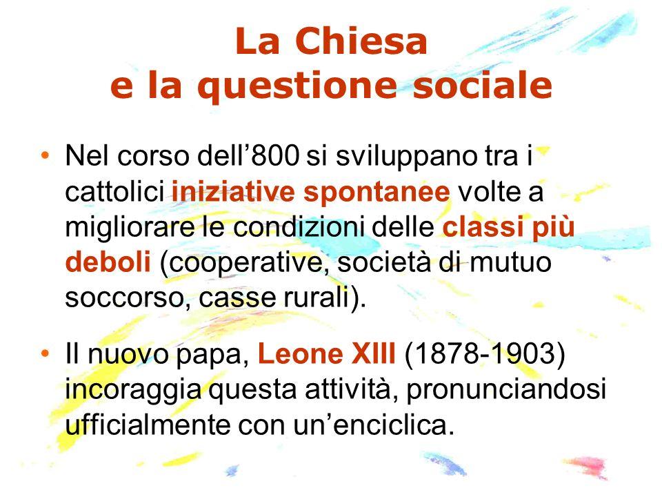 La Chiesa e la questione sociale