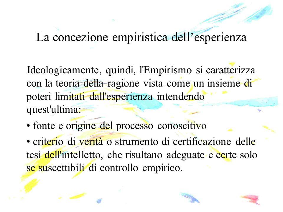 La concezione empiristica dell'esperienza