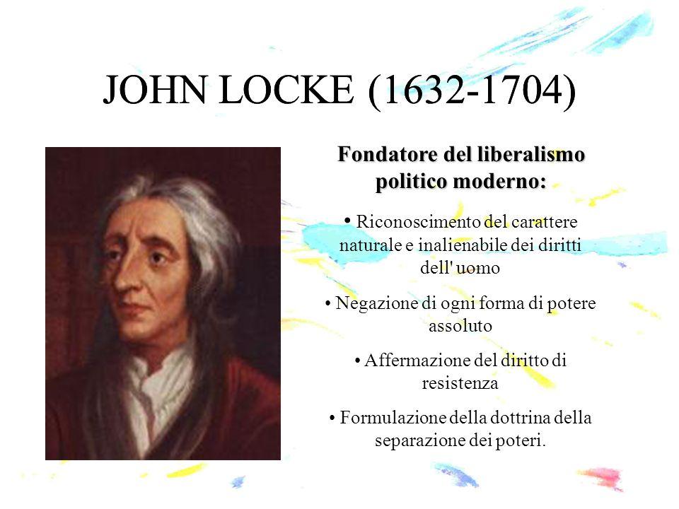 Fondatore del liberalismo politico moderno: