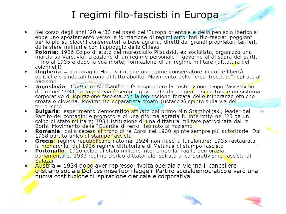 I regimi filo-fascisti in Europa
