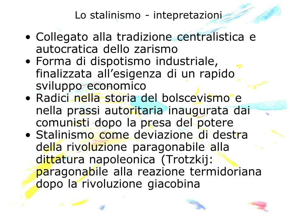 Lo stalinismo - intepretazioni