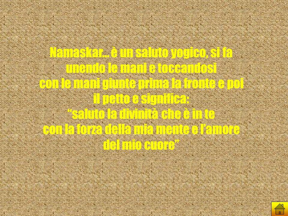 Namaskar... è un saluto yogico, si fa unendo le mani e toccandosi