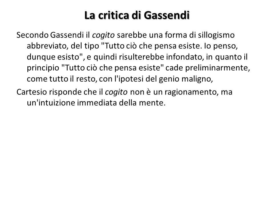 La critica di Gassendi