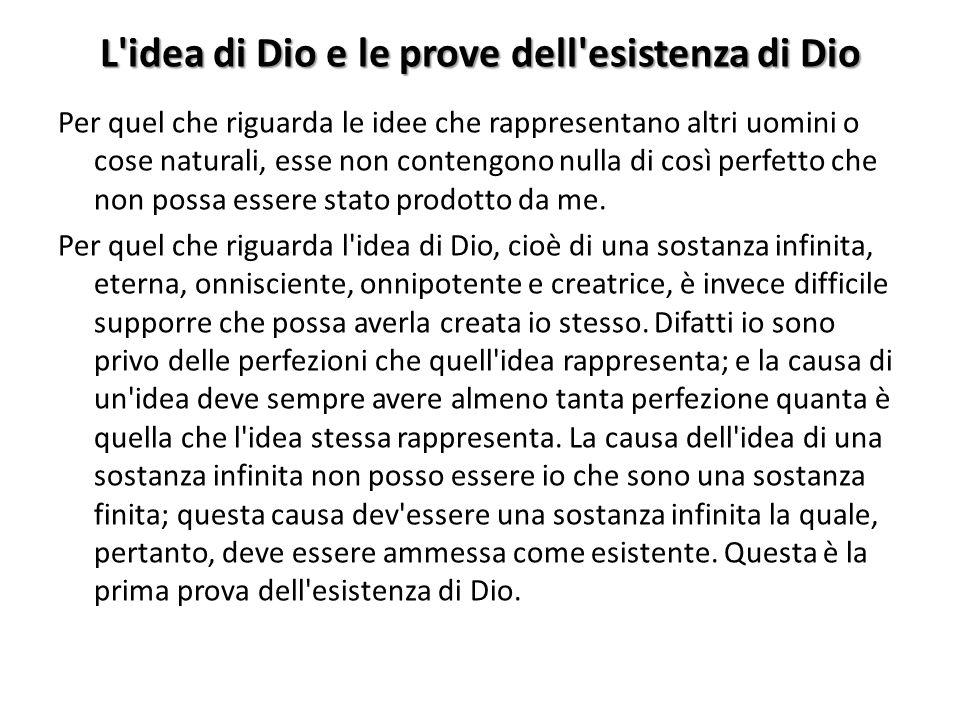 L idea di Dio e le prove dell esistenza di Dio