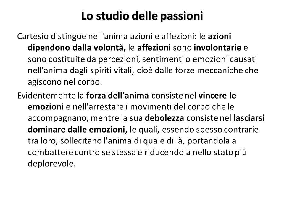 Lo studio delle passioni