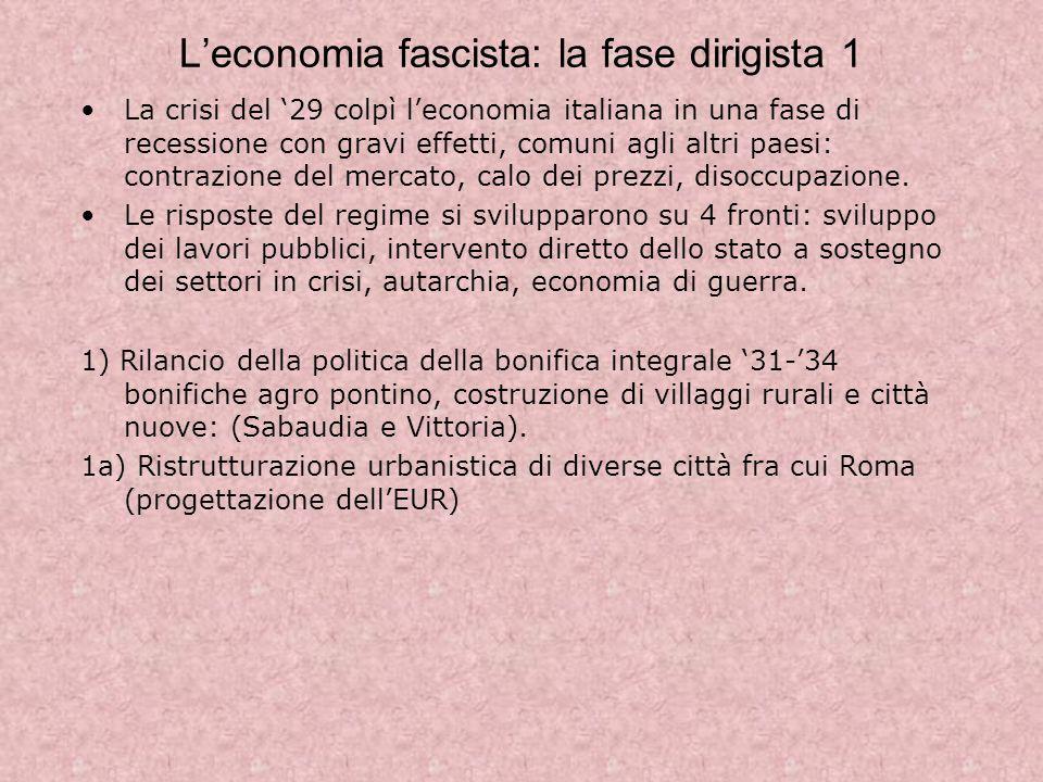 L'economia fascista: la fase dirigista 1