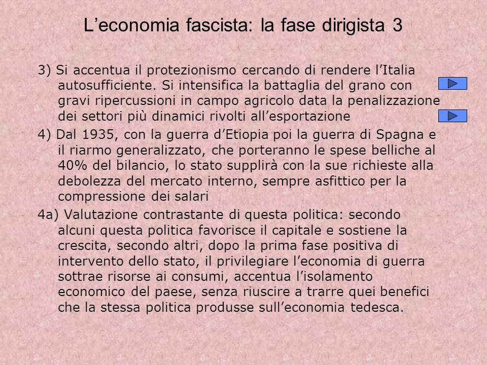 L'economia fascista: la fase dirigista 3