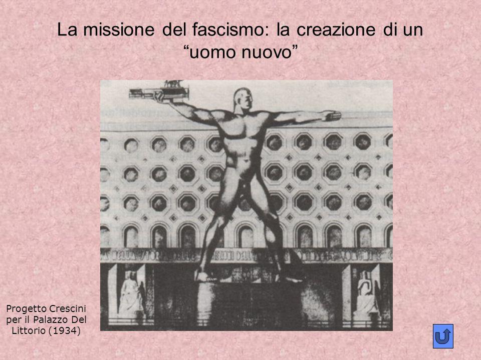 La missione del fascismo: la creazione di un uomo nuovo