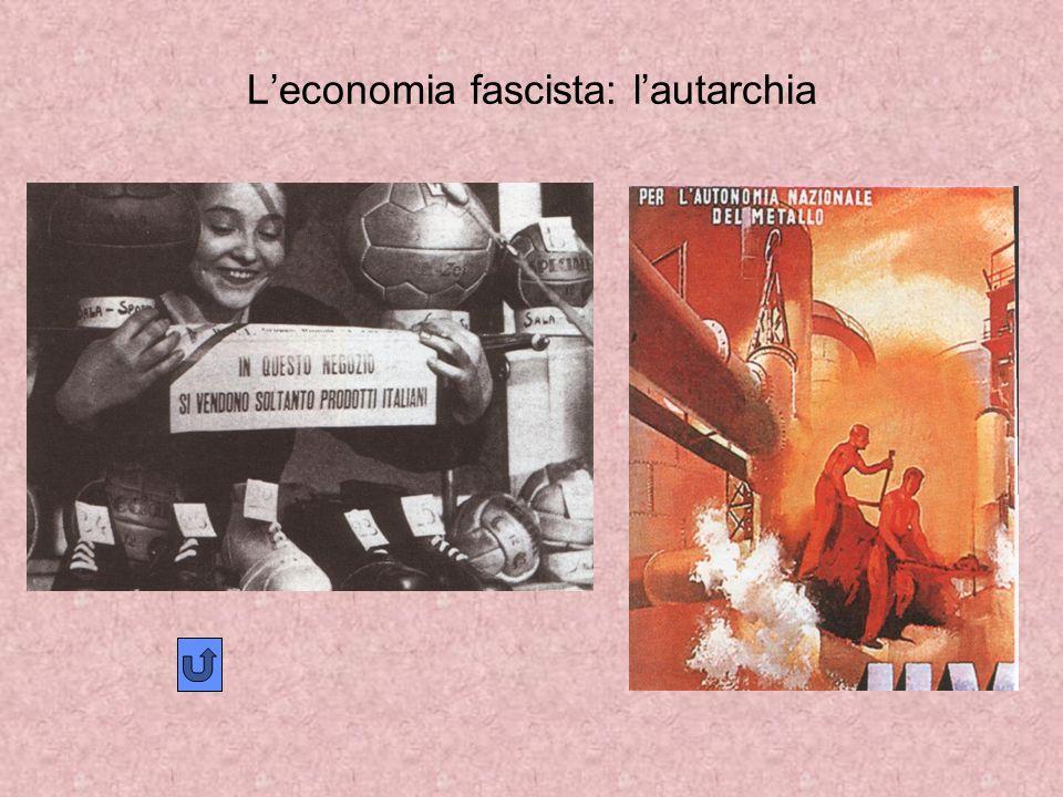 L'economia fascista: l'autarchia