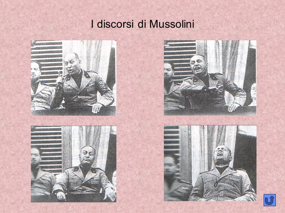 I discorsi di Mussolini