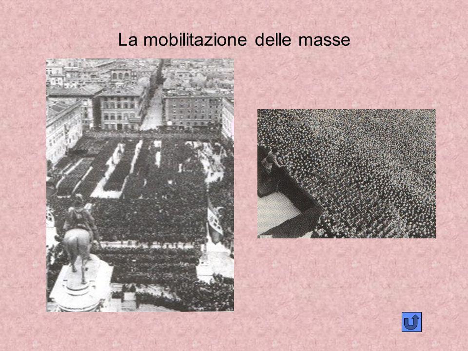 La mobilitazione delle masse