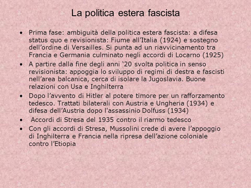 La politica estera fascista