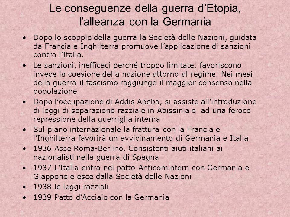 Le conseguenze della guerra d'Etopia, l'alleanza con la Germania
