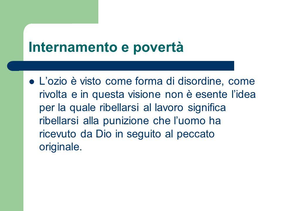 Internamento e povertà