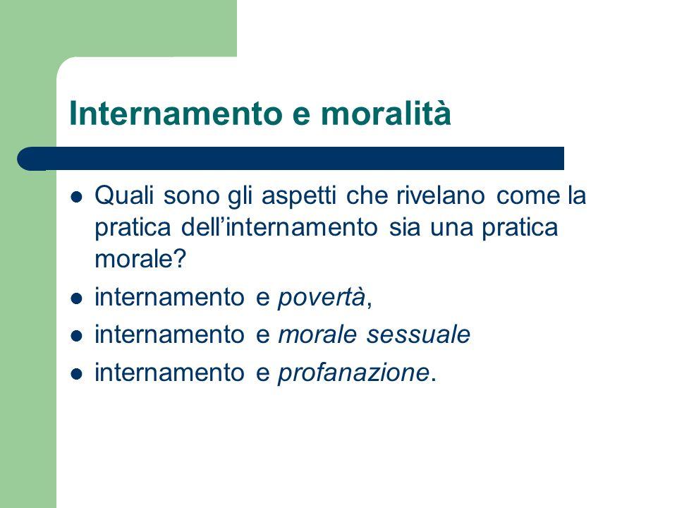 Internamento e moralità
