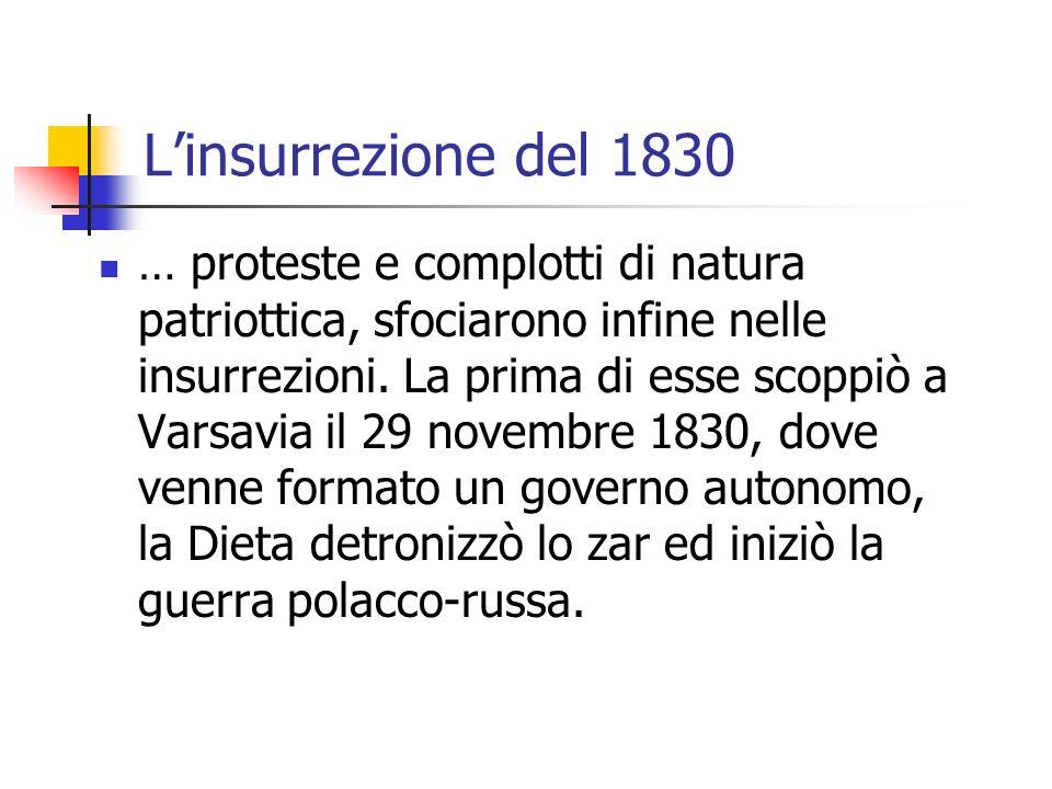 L'insurrezione del 1830