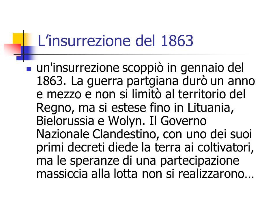 L'insurrezione del 1863