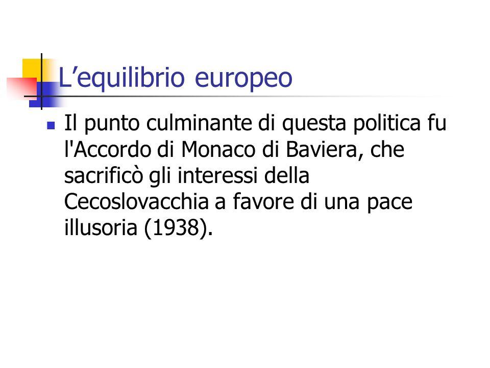 L'equilibrio europeo