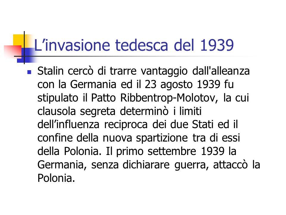 L'invasione tedesca del 1939