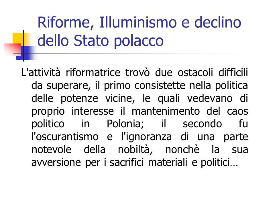 Riforme, Illuminismo e declino dello Stato polacco